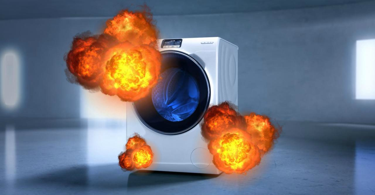 samsung washing machine blowing up